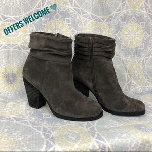 Vince Camuto Gray Hesta Scrunch Ankle Boots